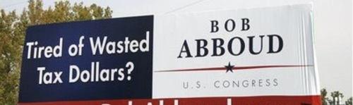 2009 Abboud Congressional campaign billboard?