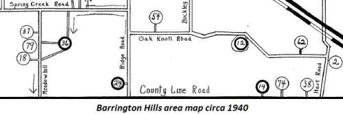 VBH Area Map Circa 1940